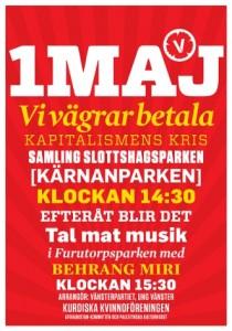 1 maj affisch Helsingborg 2010