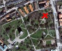 Karta samling demonstration Slottshagsparken