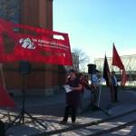 Marianne Berg talade på GA-torget