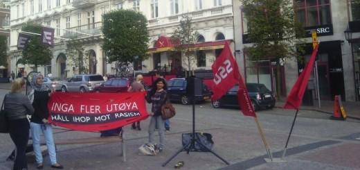 Minnesstund för offren på Utöya
