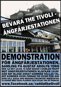 Demonstration Ångfärjestationen 2013